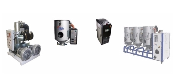 Plastic material dryers - dehumidifying, compressed, desiccant & hot air dryers