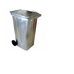 Two Wheeled Galvanized Wheelie Bins