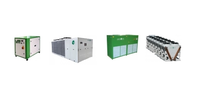 Industrial Chillers & Coolers - Air & Water cooled chillers
